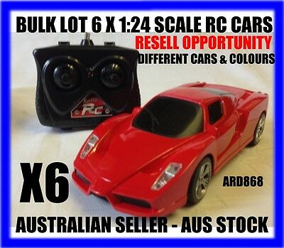 Bulk Lot Of 6 X Rc 1/24 Ferrari & Lamborghini Cars-Resell Opportunity-Aus Stock-