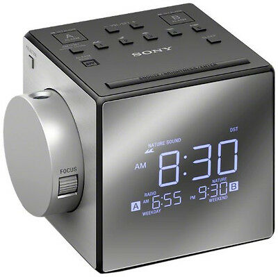 Sony ICFC1PJ Alarm Clock AM/FM Radio w/ Time Projection & Nature Sounds