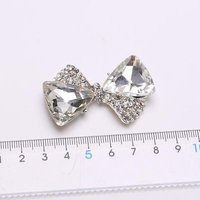 5pcs 3D Gold Diamantes Rhinestone Alloy Bowknot DIY Phone/Card Charms Decor