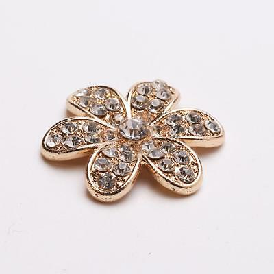 10 x Alloy Wedding Phone Decoration Charm Flower Cell Phone Rhinestones Craft
