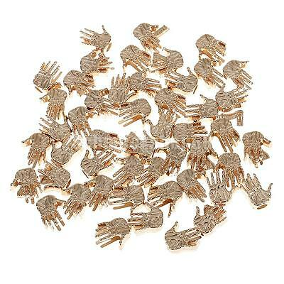 50pcs 15mm Golden Palm Shaped Cord Fastener Single Hole Cord Lock Stoppers