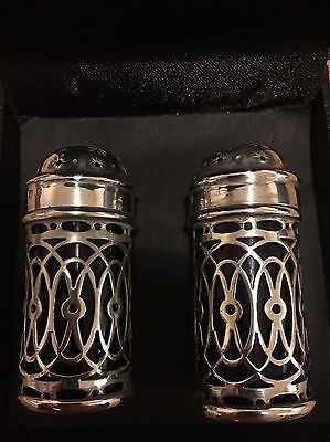 Deakin & Francis Antique Sterling Silver Salt/Pepper Shakers 1898 Very Rare