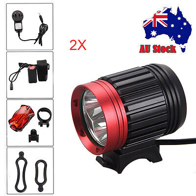 9000lm 3x XM-L T6 LED Bicycle Bike Light Front Headlight Head Torch Lamp 4x18650