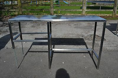 Stainless Steel Table With Adjustable Legs