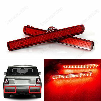 For Land Rover LED Rear Bumper Brake Stop Red Light Discovery 3 4 LR3 4 LR4 Pair