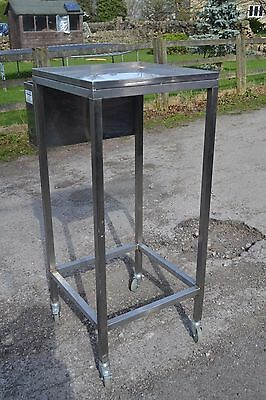 Stainless Steel Wheeled Table (Large) With Side Box