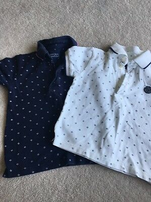 2 Baby Boys Designer Polo Shirts By Mayoral Age 18-24 Months (2 Years)