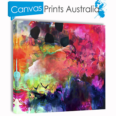Abstract Art On Stretched Canvas Print Wall Prints Multi Color Beautiful