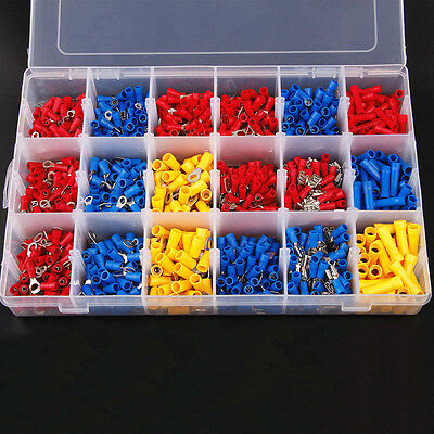 1200PCS Assorted Crimp Terminals Set Kits Insulated Electrical Wiring Connectors