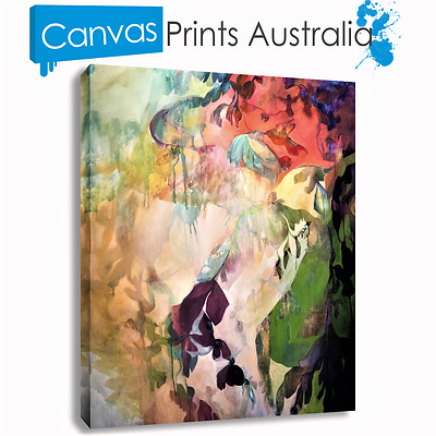 Abstract Art On Stretched Canvas Print Wall Prints Multi Color Beautiful New