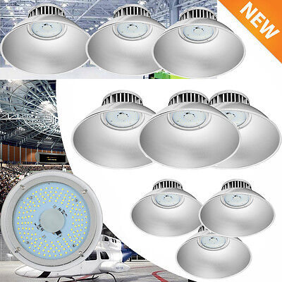 10x 100W LED High Bay Warehouse Light Bright White Fixture Factory Outdoor Shop