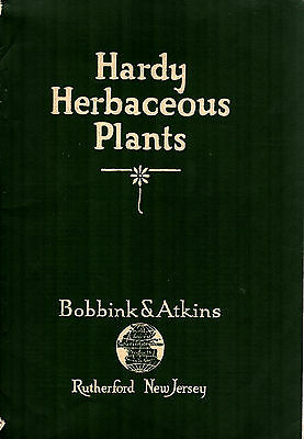 Hardy Herbaceous Plants 1928 Catalog Bobbink & Atkins Rutherford New Jersey