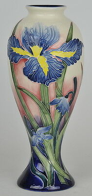 """Old Tupton Ware """"IRIS"""" Hand Painted Tube Lined VASE (11"""") TW 1290"""