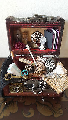 Doll House Handmade Minature Witches  Spell Chest, Kit, Harry Potter, Wizards,me