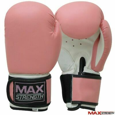 Ladies Pink Boxing Gloves  MMA Jab Women Gym Fight Training Sparring Girls Mitts