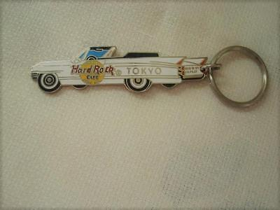 Hard Rock Cafe Tokyo White Cadillac Key Chain God Is My Co-Pilot