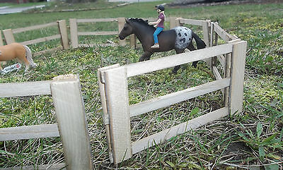 Small Play Toy Barn Yard Real Wood Fence for Breyer Classic & Schleich Animals