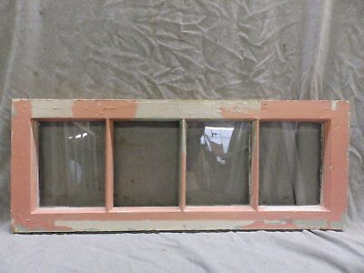 Antique Pink 4-Lite Window Sash Shabby Vintage Cottage Chic 352-17R