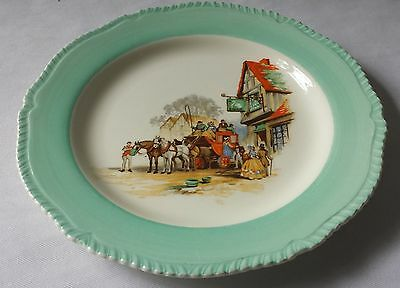 Vintage C1950'S Woods Ivory Ware Hand Painted Porcelain Plate - England