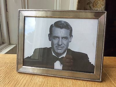 """Vintage solid silver photo frame 8.25"""" x 6.25"""" . For a 7"""" x 5"""" photo."""