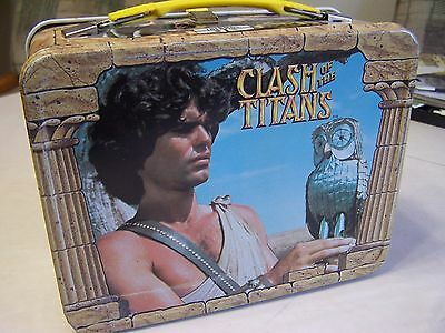 CLASH OF THE TITANS metal Lunch Box 1980