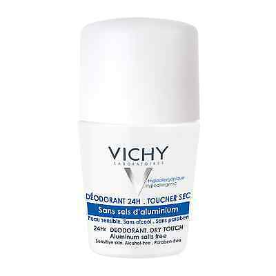 Vichy 24Hr Dry touch Aluminum Salts Free Roll On 50ml GENUINE & NEW