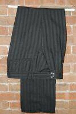 Eternity Black and Grey Striped Victorian Pants Steampunk