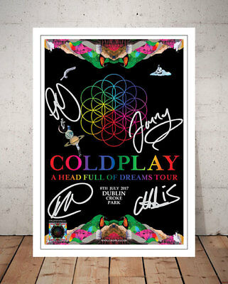 Coldplay A Head Full Of Dreams Croke Park 2017 Autographed Signed Photo Print