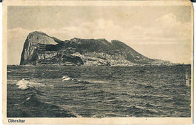Gibraltar Postcard A View Of The Bay 1915 Two Gibraltar Stamps -Forest Hill