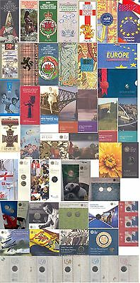 1983-2019 50p Fifty Pence & £1 One Pound coin packs from Royal Mint; FREE UK pp