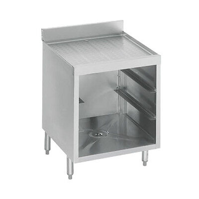 "Krowne Metal 18-GSB1 1800 Series 24"" Underbar Glass Rack W/ Drainboard Top"