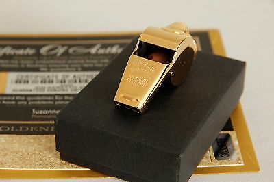 Luxury 24Ct Gold Plated Acme Thunderer Professional Sports Referee Whistle