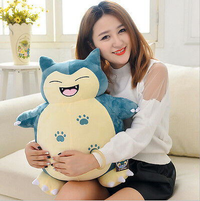 50CM Smile Pokemon Go Snorlax Plush Soft Teddy Stuffed Dolls Kids Toy