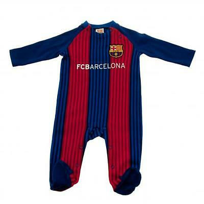 Official Licensed Product FC Barcelona Sleepsuit 0 / 3 Months VS Bodysuit New