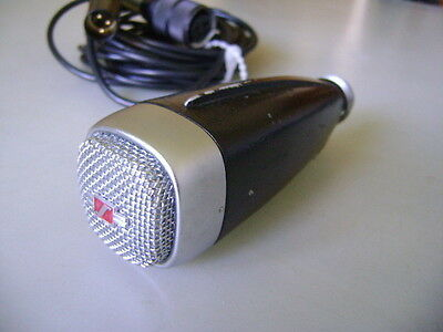 Sennheiser MD21 vintage dynamic omnidirectional microphone w/ XLR adaptor cable