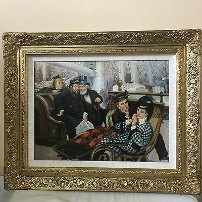 Rare An Oil On Canvas French Post-Impressionism Scene Signed And Framed.