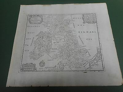 100% Original Great Britain Map By Anon C1680/s Scarce Vgc Low Postage