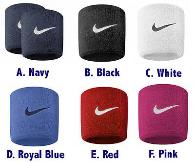 Official Nike Swoosh Sports Sweat Stretch Wristbands Pack Of 2