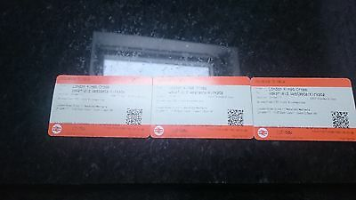 London kings cross to wakefield westgate 21st april 2 adults and 1 child.