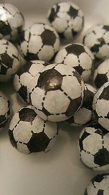 Chocolate foiled BLACK footballs 500g party bags. Retro sweets candy. Retro