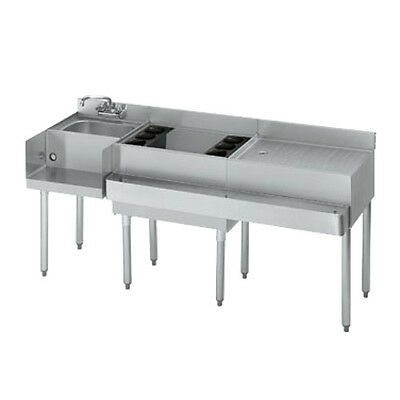 Krowne Metal 18-W66L 1800 Series Underbar Ice Bin / Cocktail / Blender Station
