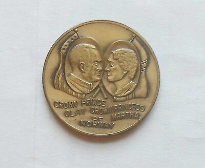 Original Medallion From 1939 Commemorating Visit Of Crown Prince Olaf to N. Dak.