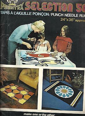 Vintage Phentex Selection 50 Punch Needle Rug Canvas 2316 Two Designs