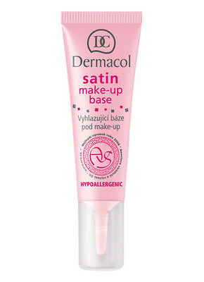 Dermacol SATIN MAKE-UP BASE 10ML Smoothing PRIMER Hypoallergenic TRANSPARENT