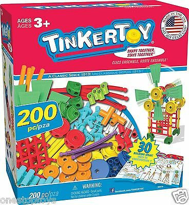 Tinkertoy 30 Model, 200 Piece, Super Building Set Ages 3+, NEW same day shipping