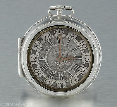 Barocke Oignon Spindeluhr Jacob Rodet London 1700 Taschenuhr verge Fusee