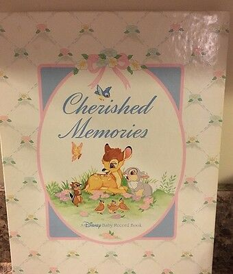 New NIB Cherished Memories A Disney Baby Record Book Bambi Collection Gibson