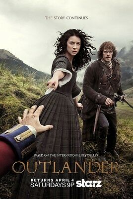 "Outlander Starz TV Series Season 1 2 3 Poster Art Print 13x20"" 24x36"" 32x48"" #11"
