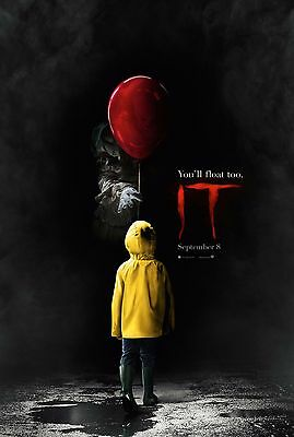 "IT Movie Poster Stephen King Horror 2017 Film Art Print 13x20"" 27x40"" 32x48"""