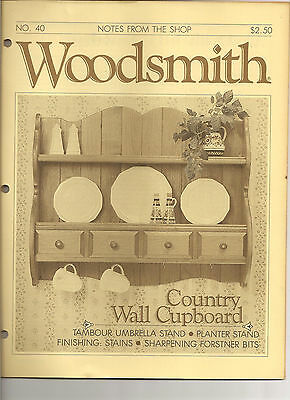 Woodsmith Magazine - July/Aug 1985 - Country Wall Cupboard - Planter Stand